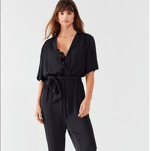 Urban outfitters satin jumpsuit medium